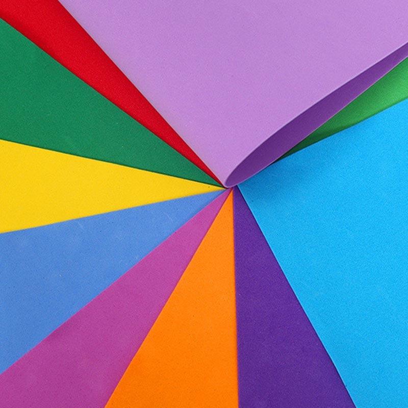 50x50cm 10pcs/Lot EVA Foam Paper Sheets DIY Foamiran Kids Handmade Materials US