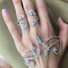 מוצק כסף אופנה של פטימה אצבע טבעת יד שרשרת רתם slave נשים חדש רב שרשרת לרתום אצבע צמידים לנשים