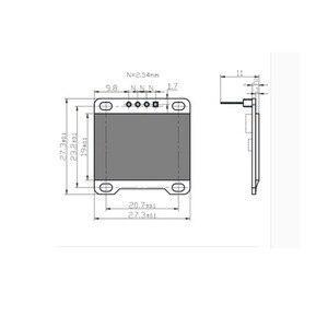 "Image 4 - 5 uds. 0,96 ""pulgadas azul I2c IIC Serial Oled LCD LED módulo 12864 128X64, para Arduino Display Raspberry PI 51 Msp420 Stim32 SCR"