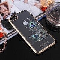 KINGXBAR For Apple IPhone 8 Case Authorized Swarovski Crystal Plating PC Phone Case For IPhone 8