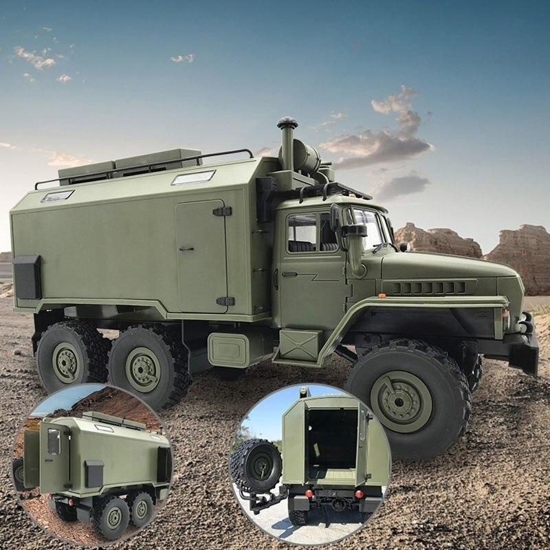 Voiture RC WPL B36 B-24 Ural 1/16 2.4G télécommande camion militaire 4 roues motrices tout-terrain modèle de voiture RC voiture d'escalade télécommandée