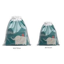 2019 2PCs Travel Organizer Waterproof Cute animals printed Storage Bag PVC Drawstring Luggage