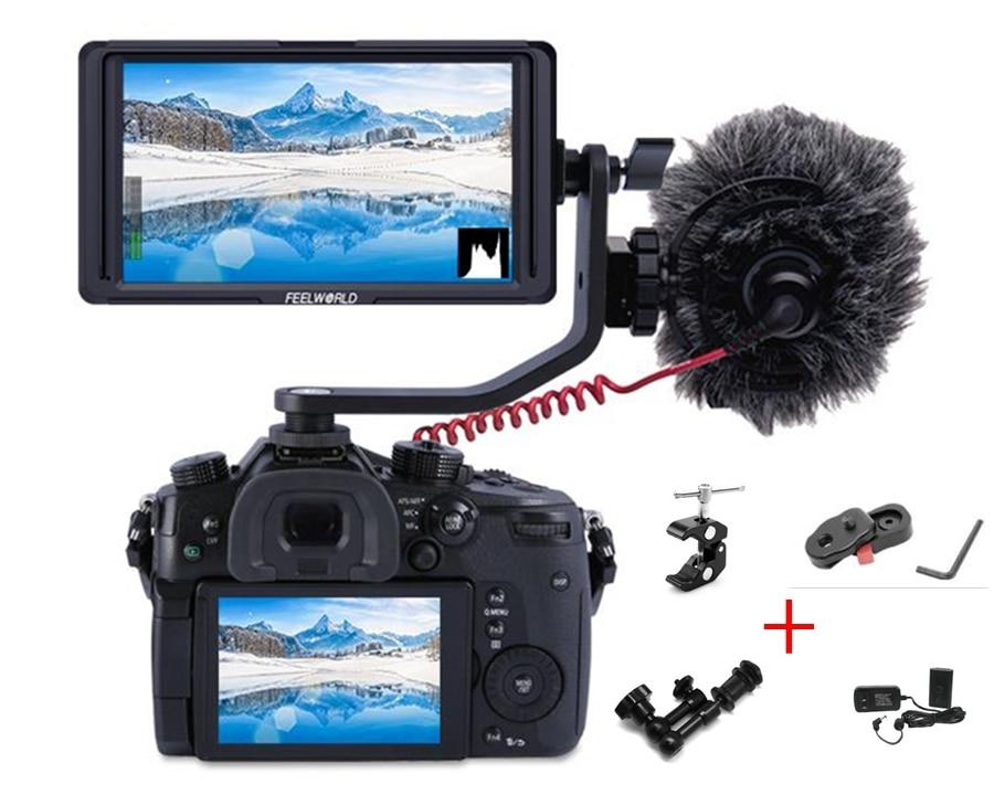 купить FEELWORLD F5 5 Inch DSLR Camera Field Monitor IPS Full HD 1920x1080 Support 4K HDMI Input Output Tilt Arm Power Output по цене 10490.04 рублей