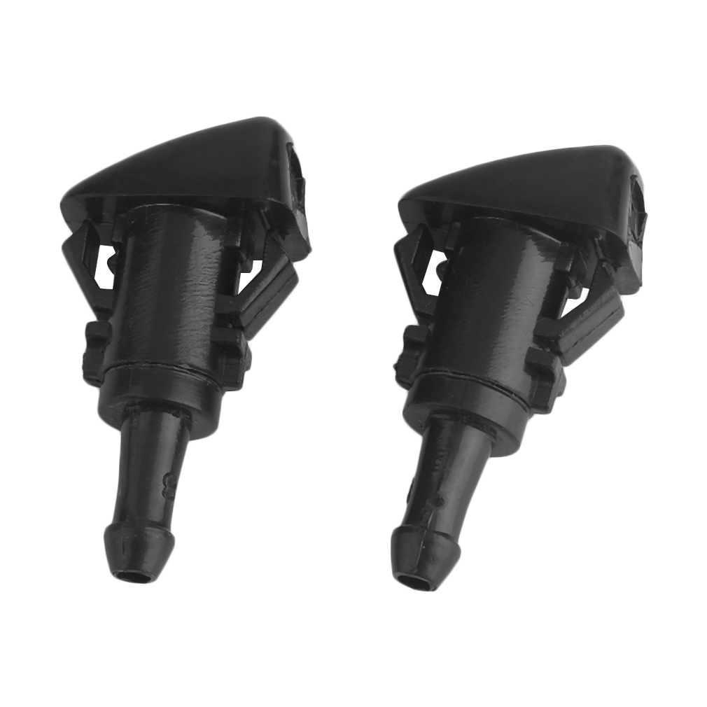 Efficient 2 PCS Car Auto Windshield Washer Wiper Water Spray Nozzle Car Window Cleaner For Chrysler 300 Black