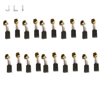 JLI 10 Pairs Carbon Brushes 7 11 18.5mm For Polishing Machine Marble Machines Electric Motor Power Tools Drill Accessories