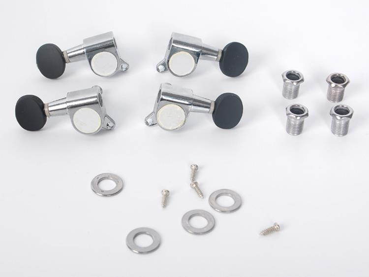 Set of Sealed Ukulele Tuning Pegs Tuners Bushings Screws 2L + 2R Agate Red Black Silver riggs r library of souls