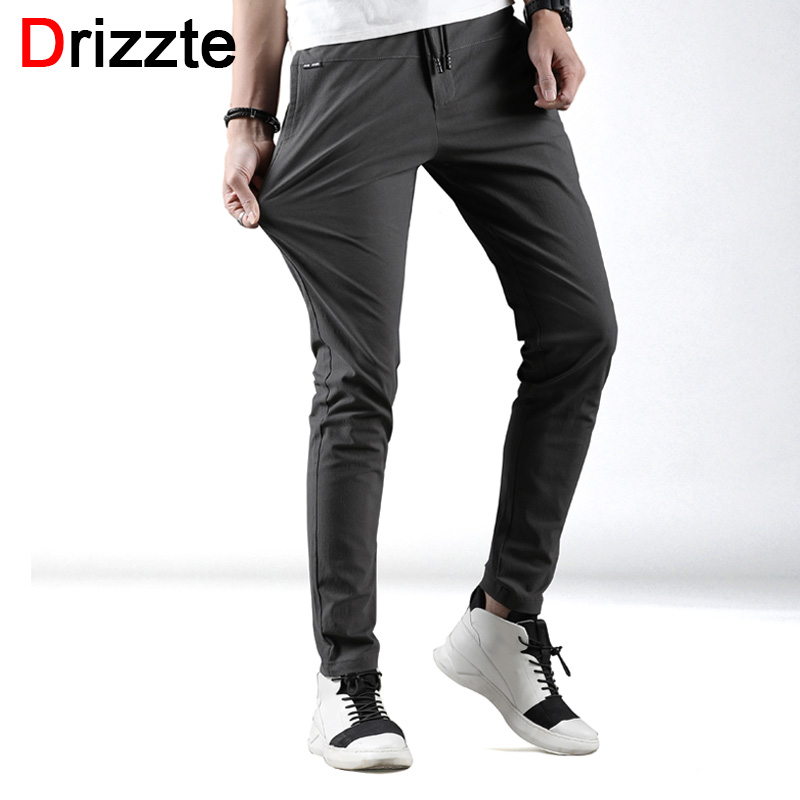 Drizzte Mens Pants Stretch Slim Fit Stretch Cotton Chinos Pants Summer Trouser Caual Slacks Size 28 40-in Skinny Pants from Men's Clothing