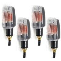 4X Mini Motorcycle Bike Turn Signal Indicator Blinker Amber LED Light Lamp For Yamaha Road Star