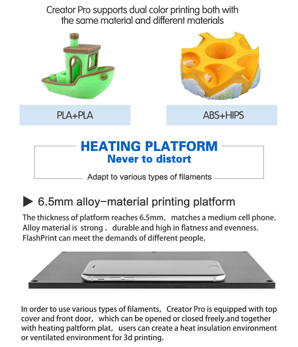 HTB19b9ZaIbI8KJjy1zdq6ze1VXaa FlashForge Creator Pro DIY 3D Printer