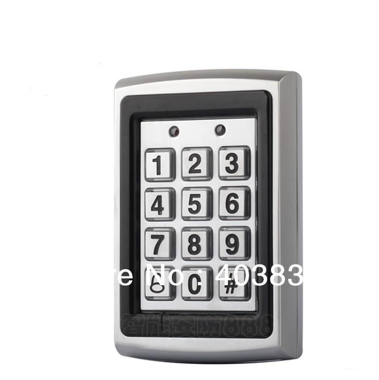 7612 Metal Rfid Access Control Keypad Support 1000 Users 125KHz ID Card Reader Electric Digital Password Door Lock wg input rfid em card reader ip68 waterproof metal standalone door lock access control with keypad support 2000 card users