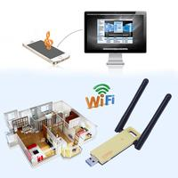 Mini Network Card 1200M 2 4G 5G Dual Band Wi Fi Receiver Adapter Card With 2
