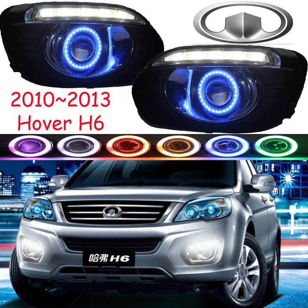 Great Wall Hover H6 fog light LED 2011~2013;Free ship!Hover H6 daytime light,2ps/set+wire ON/OFF:Halogen/HID XENON+Ballast,Hover