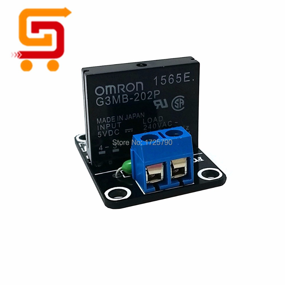 5v 1 Channel Ssr Solid State Relay Module G3mb 202p Relays 240v 2a Output With Resistive Fuse For Arduino M63 In From Home Improvement On