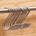 10 pcs Universal 201 S Gancho de Aço Inoxidável Não-magnético Para Cozinha Casa de Banho Gancho de Metal
