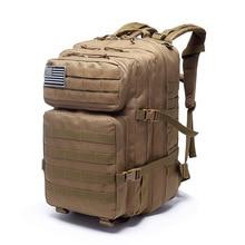 40L Men Rucksack Tactical 3P Backpack Outdoor Molle Backpacks Sport Bag Camping Hiking Travel Climbing Bagpack Military Bags недорого