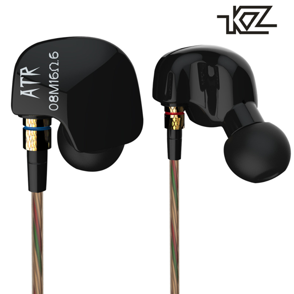 KZ-ATR In-ear HiFi Sport Earphone Music Headset Subwoofer Noise Isolating Earbud Earpieces for Mobile Phone iPod kz ates ate atr hd9 copper driver hifi sport headphones in ear earphone for running with microphone game headset