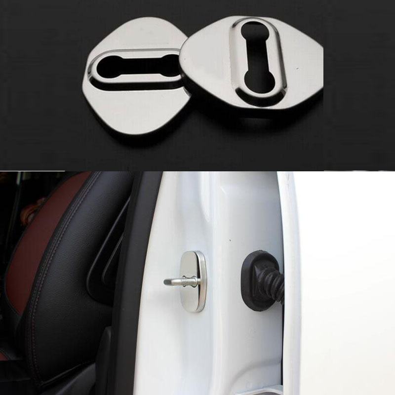 For Honda CRV Civic jade SPIRIOR Fit Accord Odyssey stainless steel Car door lock locker buckle cover Protector decoration  Wh
