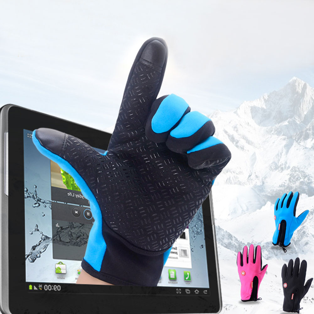 Mens winter gloves xxl - Unisex Women Men Winter Touch Screen Gloves Windproof Waterproof Warm Outdoor Sports Ski Climbing Finger Gloves L Xl Xxl