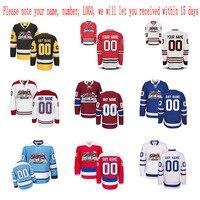 Customized Any ICE Hockey Jerseys Any Logo Name Number Embroidery Wholesale From China Free Shipping Sent