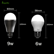 Mi Light 2.4G Wireless E27 6W 9W RGBW RGBWW Led Light 110v 220v Dimmable Led Bulb Lamp RF Remote Control Wifi APP Controller 1 x mi light ac86 265v e27 9w cw ww led lamp color temperature dimmable led bulb 1 x 2 4g wireless ios android wifi controller