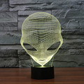 Unique 3D Special Alien Shape LED Table Lamp with USB Power Charging Sleep Light Projection Lamp For Children