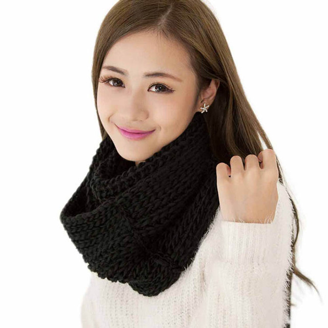 1pc Fashion Women Men Winter Warm Infinity Circle Soft Knitting Wool