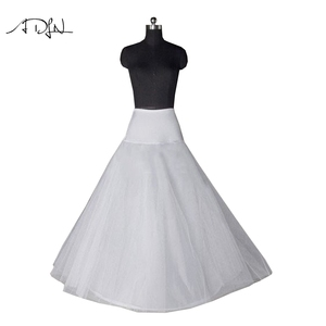 Image 4 - New Arrives High Quality A Line Wedding Bridal Petticoat Underskirt Crinolines Adult for Wedding Dress