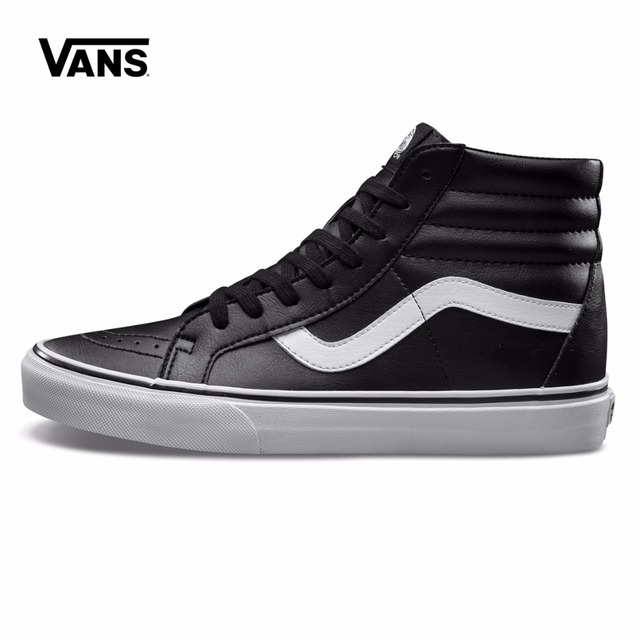 black hi top vans