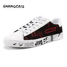 Trend 2018 Graffiti Shoes For Men Autumn Canvas Shoes Fashion Vulcanized Shoes Casual Men New Feel Men's Shoes Plus Size 46