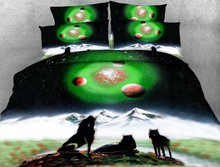 Wolf Bedding sets 3D bed covers quilt duvet cover set bed in a bag sheets sheet linen Cal Super King size Queen full twin 4PCS цена