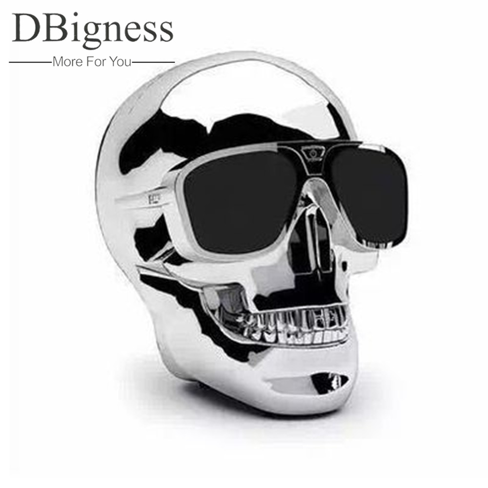 Dbigness Portable Skull Bluetooth Speaker Skull Head Ghost Wireless Stereo Subwoofer Sound System Stereo Hand-free TF USB Player tronsmart element t6 mini bluetooth speaker portable wireless speaker with 360 degree stereo sound for ios android xiaomi player