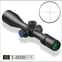 Discover Hunting Range HD5 25X50 SFIR Tactical Range Optical Air Rifle Scope Extension Sunshield