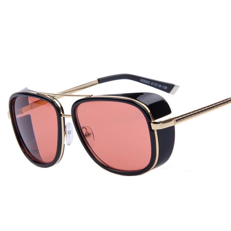 2017 Jaunais IRON MAN 3 Matsuda TONY Steampunk Saulesbrilles Vīriešu spoguļattēls Brilles brilles Vintage Saulesbrilles Oculos Masculino G