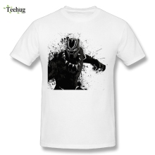 Awesome Graphic Boy Black Panther T Shirt Unique Custom Cotton Homme Tees For Man Summer Stylish Camiseta цена