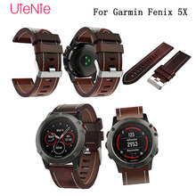 Luxury New Leather Replacement Wristband for Garmin Fenix 5X Plus GPS watch band with replacement tool Strap Bracelet