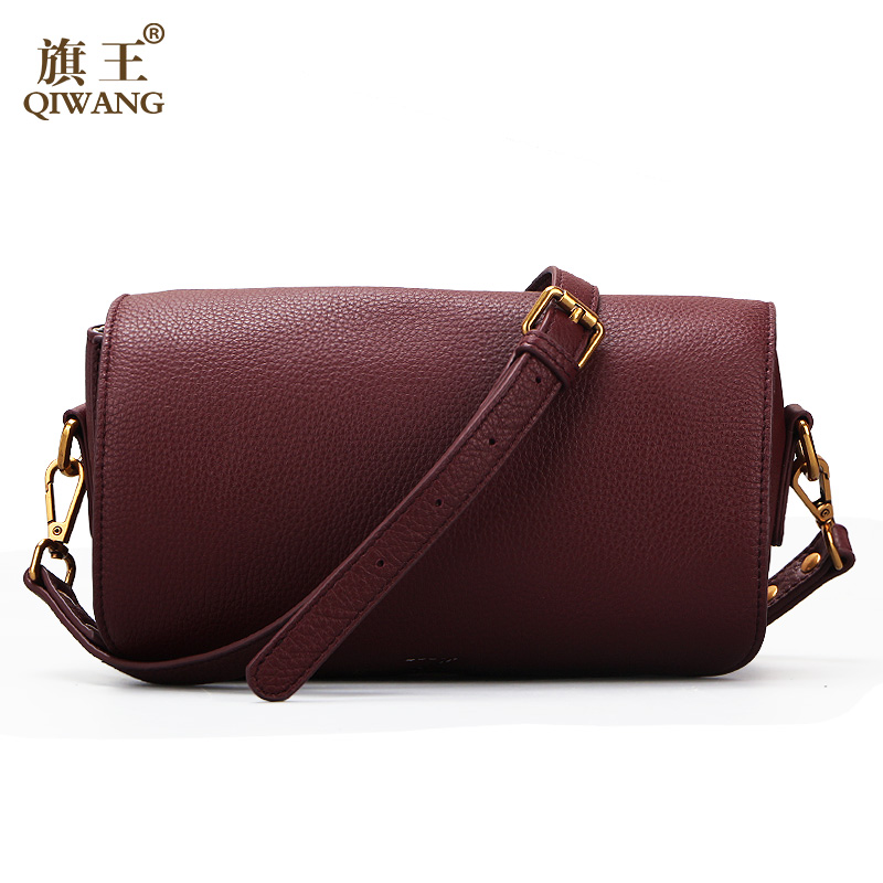 QIWANG Soft COW Leather Bag Luxury 2017 Women Handbags Made in China 100% Genuine Leather Female Bag Guangzhou qiwang china brand handmade leather bag luxury handbags famous brand tassel women bags made in china flower tote bag purse