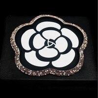 Flor de Rose del diamante Coche Anti Almohadilla de Goma Antideslizante Mobile Dashboard Sticky teléfono Anti Non Slip Mat Para GPS MP3 Muñeca Cojín de Las Mujeres