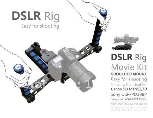 ФОТО DSLR DV Rig Movie Kit Shoulder Mount for Nikon D90 D7000 D5100 D5000 D3100