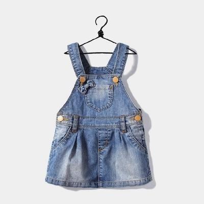 (CZ0998)2015 Fashion Brand Girl Demi Dress Butterfly Heart suspender Denim Dress Free Shipping
