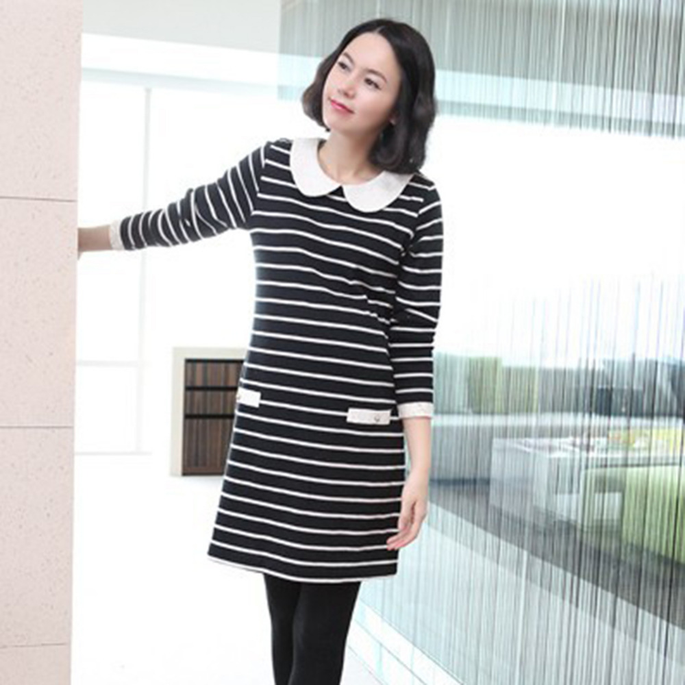 Maternity T-shirt Long Sleeves Striped Nursing Clothes Tops for Pregnant Women Spring Au ...