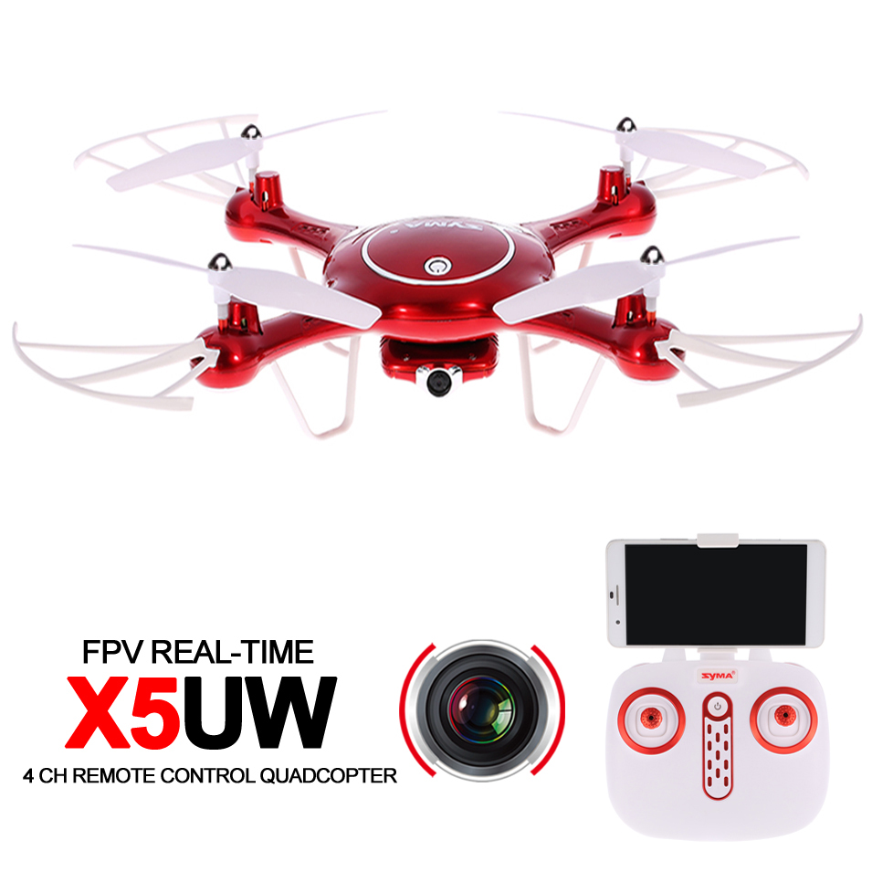Syma X5UW RC Wifi Drone FPV Quadcopter RTF With Camera HD 2.4G 4CH Professional Drones APP Control Rc Helicopter For Adults syma x8c rc helicopter mini drone with camera selfie hd fpv quadcopter 4 channel aerial remote control aircraft uav drones toy
