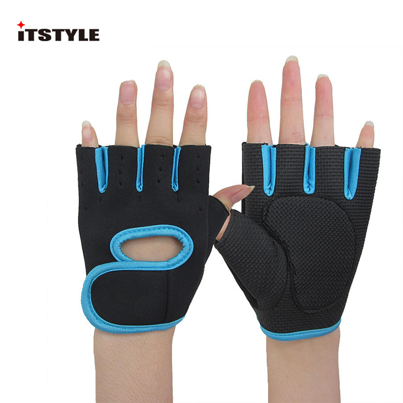 ITSTYLE Fitness Weight Lifting help Sport Gloves Exercise Workout Gym Body Building Training Half Finger Glove