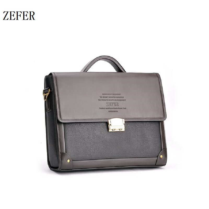 ФОТО ZEFER 2016 Men's Casual Briefcases Business Shoulder Bag Brand Men Messenger Bags Laptop Handbag Men's Travel Bags AZ032-16