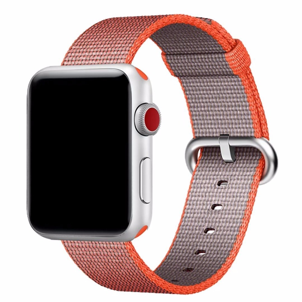 Woven Nylon for Apple Watch Band Replacement Classic Buckle Watch Strap for Apple Watch Bands 38mm And 42mm in Watchbands from Watches