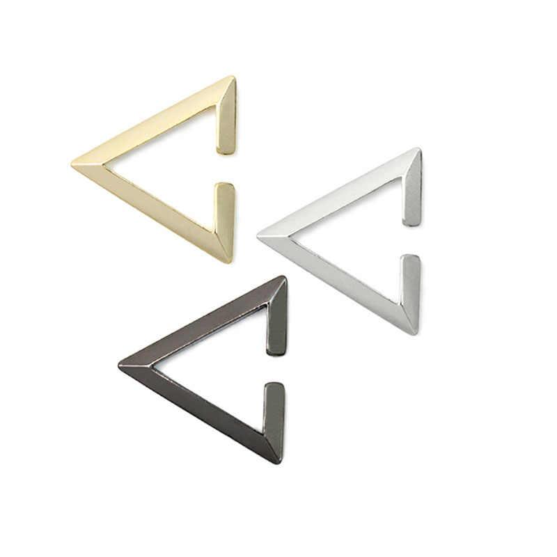 Unisex Triangle Ear Cuff Gold Geometric None Piercing Earring For Women SINGLE Silver Men Earring Black Tragus Edgy Earring 2018