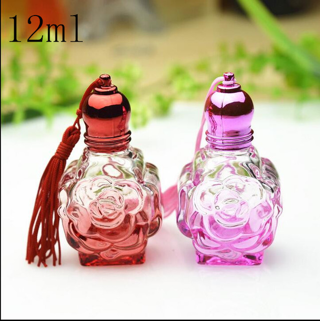 d2f0c66ed96 Free Shipping 12ml Glass Empty Refillable Women Perfume Roll on Bottles New  Style parfume Essential Oil Empty Pack Containers