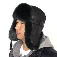 BFDADI Зима Теплая Доказательство Ловец Hat 2015 Новый мужской Bomber Шляпы Мода Спорт На Открытом Воздухе Ушанке Шапки Для Мужчин