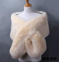 faux fur shawl wraps Girl Women's Soft Imitated faux Fox Fur Scarves Sexy Lady's Winter Fashion warm pashinama stole accessories