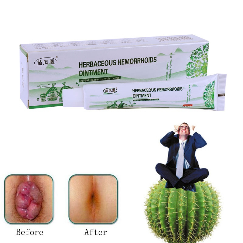 Herbal Hemorrhoids Ointment Anti-Inflammatory Detumescence Cool Piles Treatment Cream New image