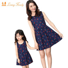 hot deal buy mother daughter dresses fashion family clothing cotton dress family matching outfits mom and daughter dress family clothes